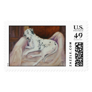 Sweet Dreams the Dalmatian Postage Stamp