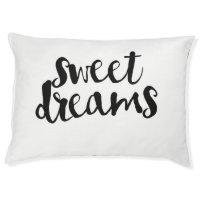 Sweet Dreams Typography Script Pet Bed