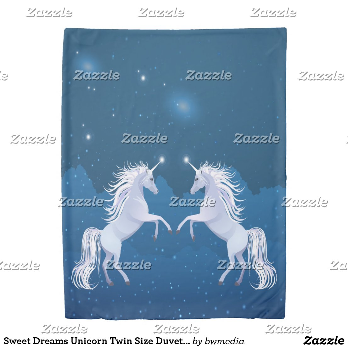 Sweet Dreams Unicorn Twin Size Duvet Cover