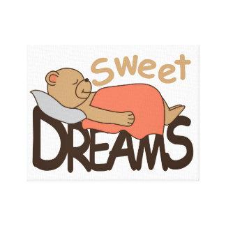 Sweet dreams wish design canvas print