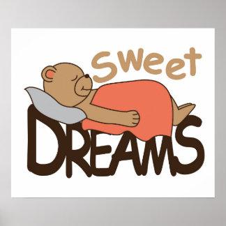 Sweet dreams wish design poster