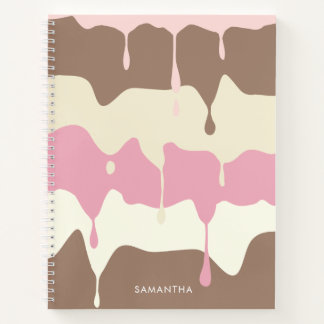 Sweet Dripping Neapolitan Ice Cream Notebook