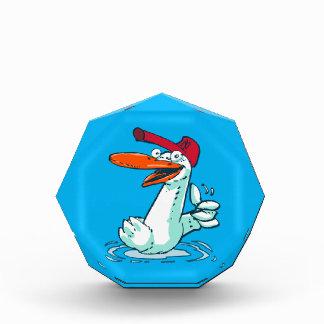 sweet duck on the lake cartoon acrylic award