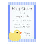 "Sweet Ducky Blue Baby Shower Invitations 5"" X 7"" Invitation Card"