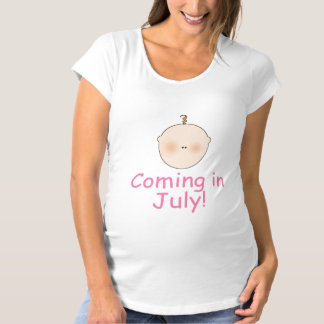 Sweet Due In July Maternity Shirt