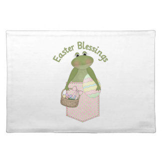 Sweet Easter Blessings Frog Pocket Tees, Gifts Cloth Placemat