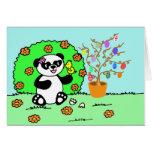 Sweet Easter little panda is celebrating Felicitaciones