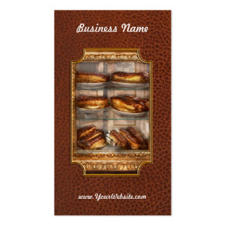 Sweet - Eclair - Chocolate Eclairs Business Card Template