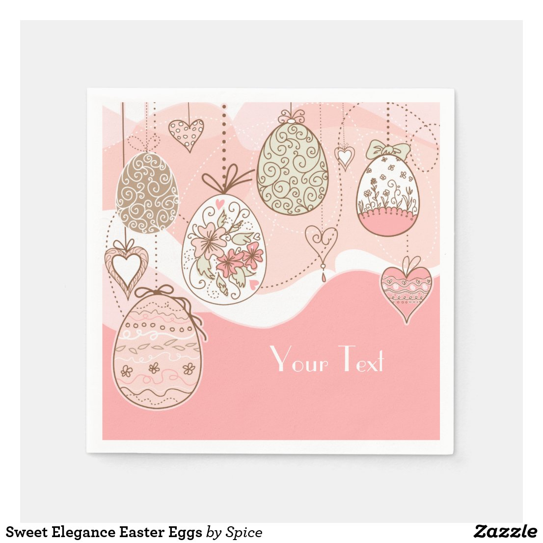 Sweet Elegance Easter Eggs Napkin