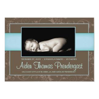 Sweet Elegance - New Baby Annoucement - Boy Card
