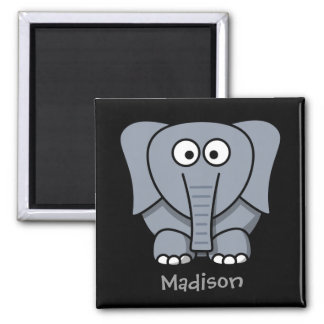 Sweet elephant 2 inch square magnet
