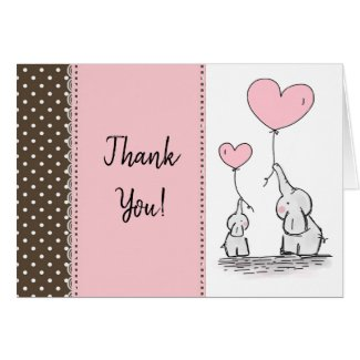 Sweet elephant thank you cards