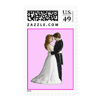 Sweet Embrace Wedding Invitations Postage Stamp