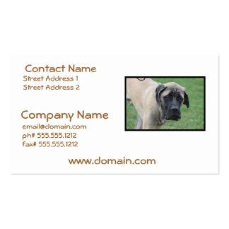Sweet English Mastiff Business Card