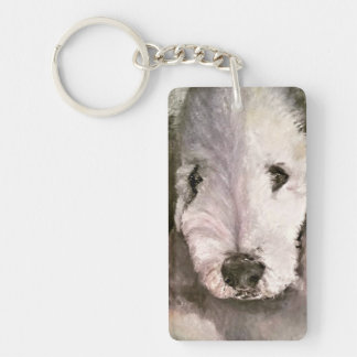 Sweet-Eyed Bedlington Terrier Photo Magnet Keychain
