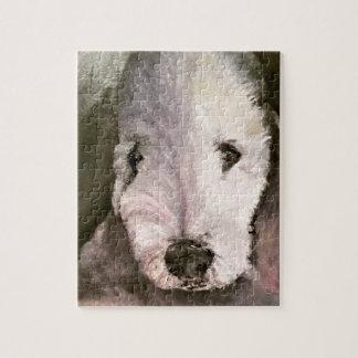 Sweet-Eyed Bedlington Terrier Puzzle