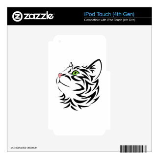 Sweet Face Kitty Cat 3 Skins and Decals Decals For iPod Touch 4G