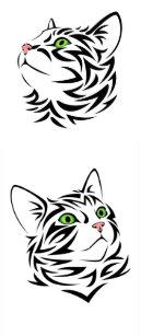 268dbdf96 Sweet Face Kitty Cat Temporary Tatoos Temporary Tattoos