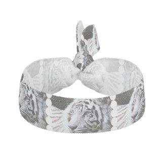 Sweet Faced White Tiger Ribbon Hair Tie