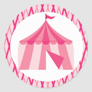 Sweet Fair Big Top Tent  Birthday Stickers
