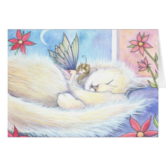 Sweet Fairy and Cat Card
