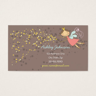 Sweet Fairy and Stars Cute Template Profile Card