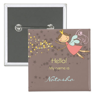 Sweet Fairy and Stars Name Tag / Gift / Button