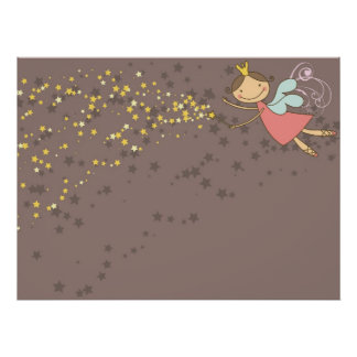 Sweet Fairy and Stars Poster