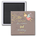 Sweet Fairy and Stars Save Date Invitation Magnet