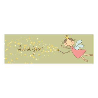 Sweet Fairy and Stars Thank You Gift Tag Card Business Card