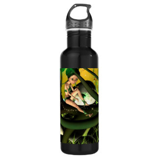 Sweet fairy sitting on a swirl tree 24oz water bottle