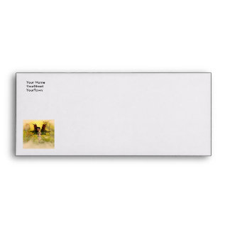 Sweet fairy with mystical background envelope