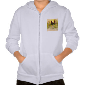 Sweet fairy with mystical background hooded sweatshirt