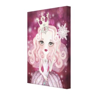 Sweet Fairy Wrapped Canvas Canvas Print