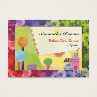 Sweet Fairytale Village Real Estate Agent Business Business Card
