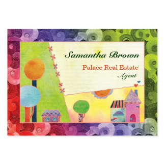 Sweet Fairytale Village Realtor Business Cards