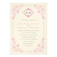 Sweet Fairytale Wedding Invitation Pink