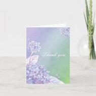 Sweet Fall Hydrangea Wedding Thank You Folded Card