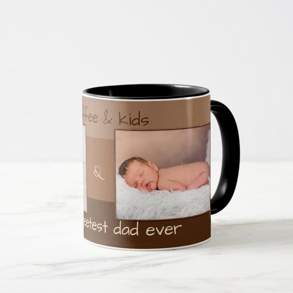 Sweet Father's Day Coffee Photo Mug