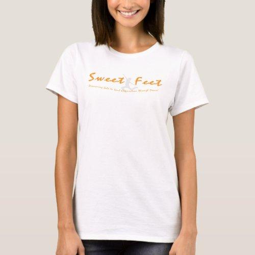 Sweet Feet Basic Womens T_Shirt