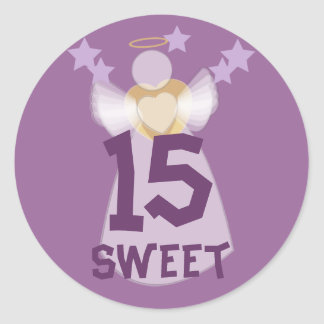 Sweet Fifteen Angel Sticker-Customize