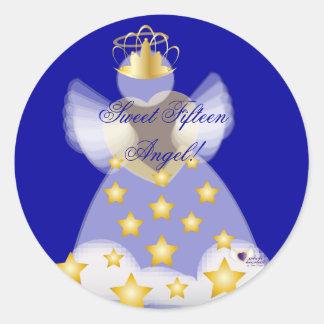 Sweet Fifteen Angel! Sticker-Customize Classic Round Sticker