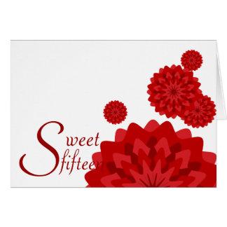 Sweet Fifteen Birth Flower Invitation-Customize Card