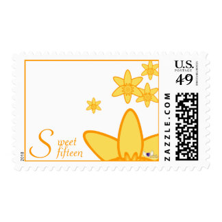 Sweet Fifteen Birth Flower Postage-Customized