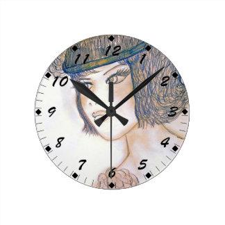 Sweet Flapper II Round Clock