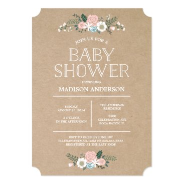 Toddler & Baby themed Sweet Floral | Baby Shower Invitation