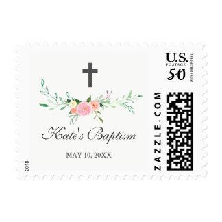 Sweet Floral Baptism Stamp