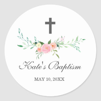 Sweet Floral Baptism Sticker