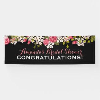 Sweet Floral Bridal Shower Congratulations Banner