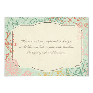 Sweet Floral Bridal Tea Party Invitation Insert
